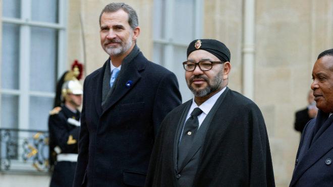 El Rey Felipe VI y el monarca Mohamed VI, en pasado mes de noviembre...
