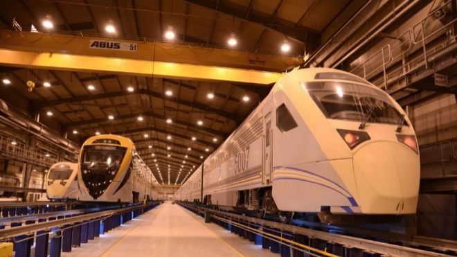 Taller de mantenimiento de trenes de CAF.