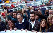 El presidente de la Generalitat Quim Torra (2ºi), junto al presidente...