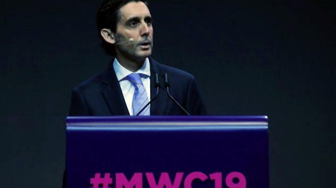 El presidente ejecutivo de Telefónica, José María Álvarez-Pallete,...