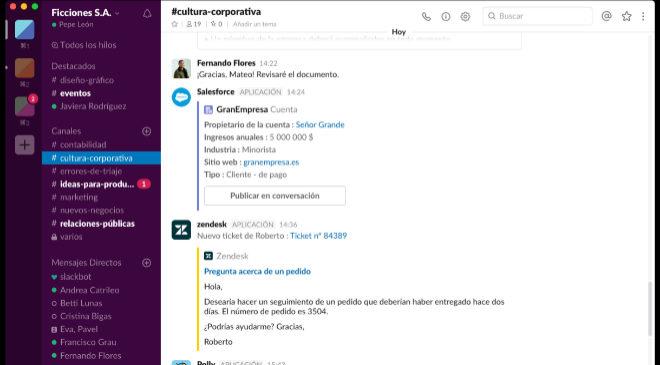 La 'app' de mensajería Slack debutará en Bolsa en las...