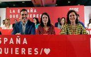 El presidente del Gobierno, Pedro Sánchez, la portavoz del PSOE en el...