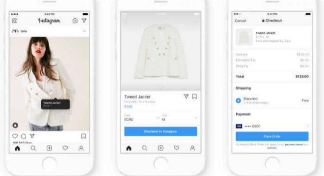 Así sería el proceso de compra en Zara a través de Instagram.