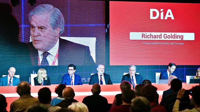 Richard Golding, presidente en funciones de Dia, durante su...