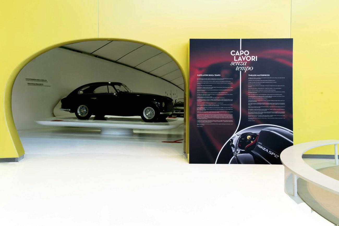 La muestra recoge parte de la historia del automovilismo en Módena...
