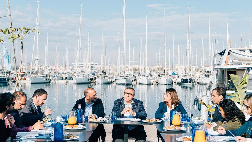 Presentación oficial del Valencia Show 2019 en La Marina de Valencia.