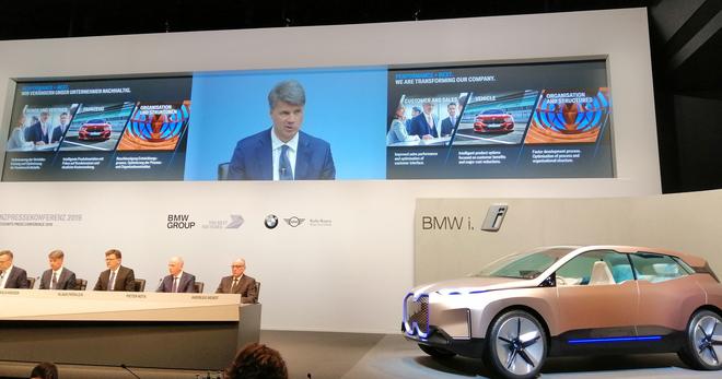 Imagen de la conferencia anual de presentación de resultados de BMW...