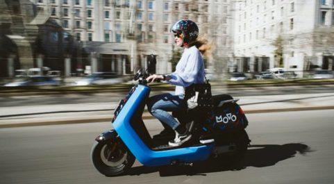 Moto de la startup de alquiler de motos eléctricas Movo.