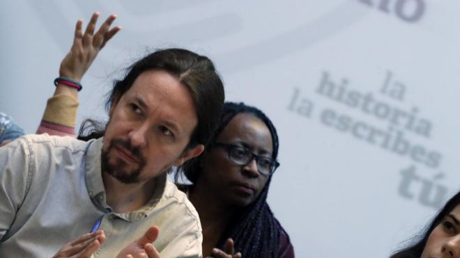 El candidato de Unidas Podemos Pablo Iglesias. EFE