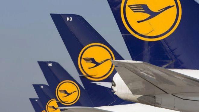 Aviones de Lufthansa en el aeropuerto de Fráncfort.