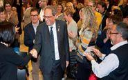 El presidente de la Generalitat de Cataluña Quim Torra (c).