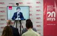 El cabeza de lista de JxCat para el 28-A, Jordi Sánchez, ofrece una...