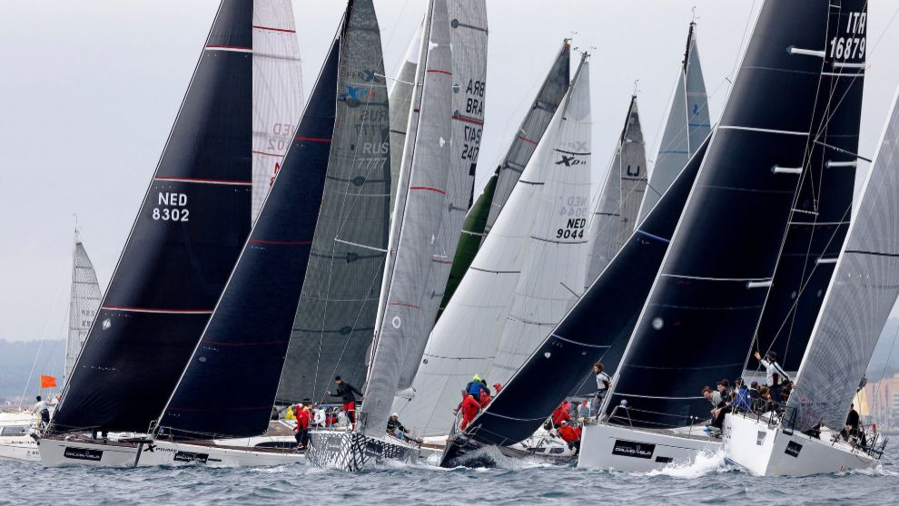 La flota de ORC compitiendo en la última edición de la Sail Racing...