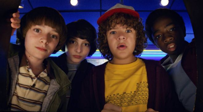 Protagonistas de la serie de Netflix 'Stranger Things'.