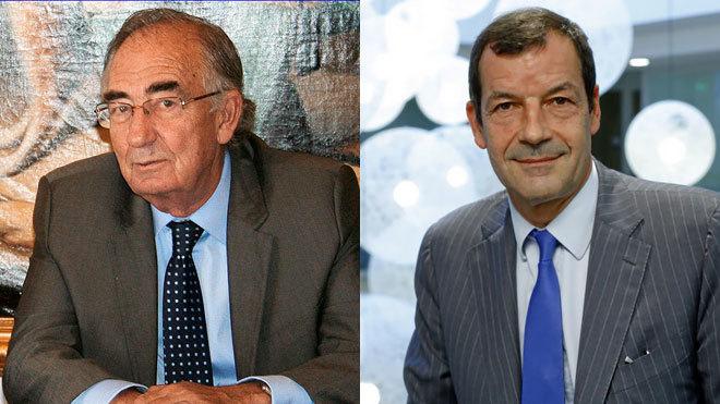 Amado Franco, presidente de Caser (izquierda) y Thierry Derez,...