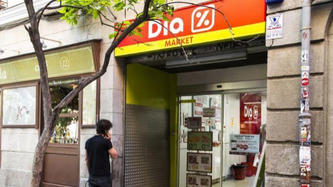 Supermercado Dia Market en Madrid.