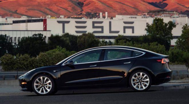 Vehículo Model 3 de Tesla con el que han tenido lugar los accidentes.