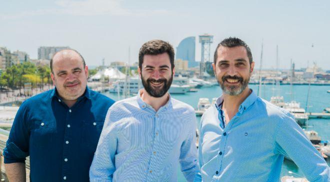 Los fundadores de Housfy. De izda. a dcha, Carlos Blanco, Albert Bosch...