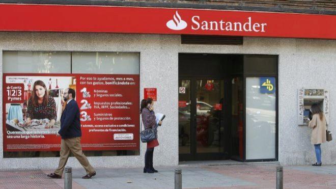 Oficina de Banco Santander.