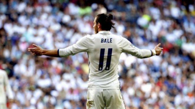 El futbolista galés Gareth Bale, durante un partido con el Real...