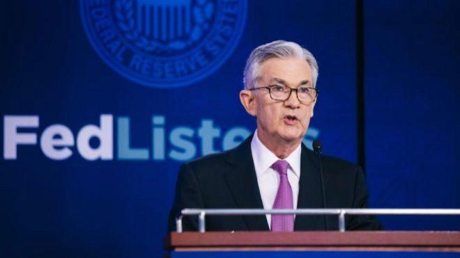 Jerome Powell, presidente de la Reserva Federal de Estados Unidos...