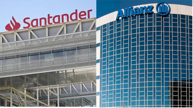 Edificios de Santander y Allianz.