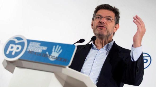El ex ministro de Justicia, Rafael Catalá, durante un acto del...