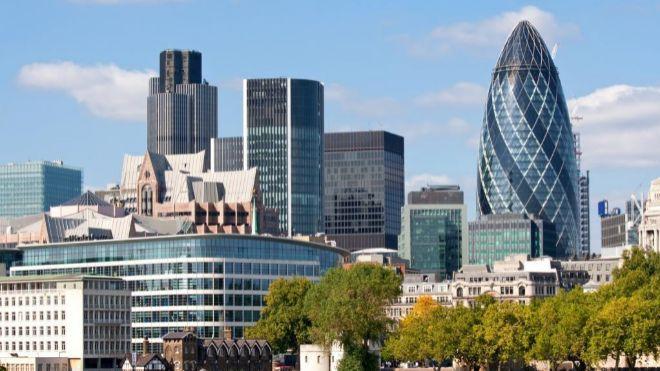 Panorámica de la City de Londres.