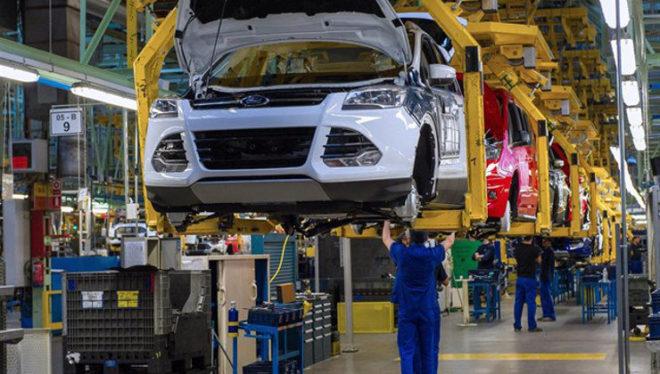 Imagen de la línea de producción del Ford Kuga en Almussafes...