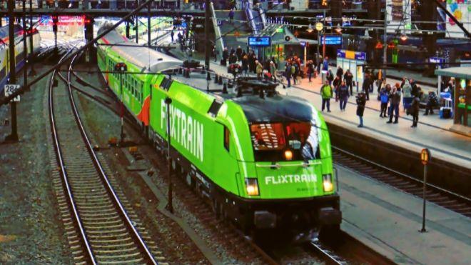 Servicio de trenes de FlixTrain en Alemania, donde ya dispone de una...