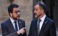 Los consellers Pere Aragonès y Alfred Bosch.
