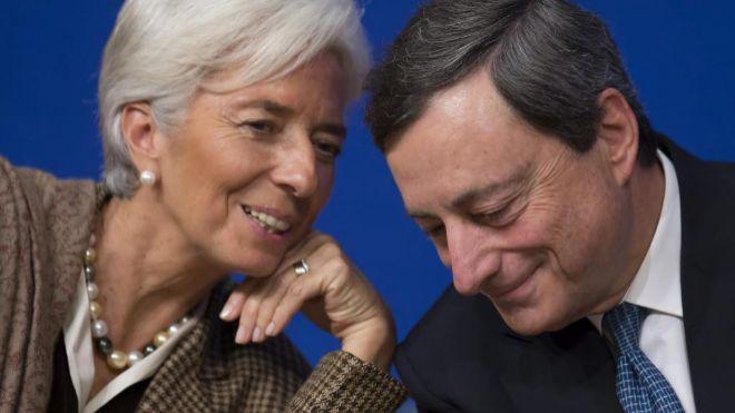 Resultado de imagen de Lagarde y Draghi