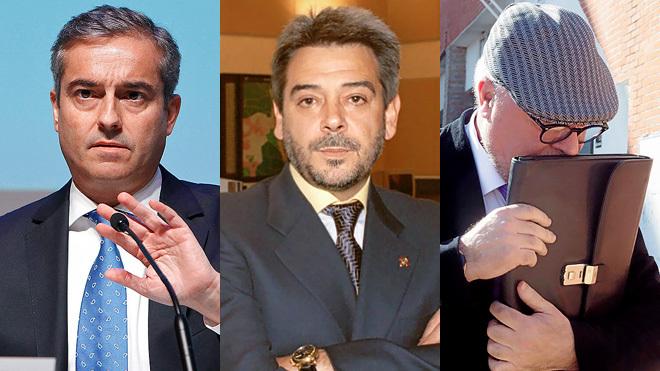 De izquierda a derecha, Ángel Cano, exconsejero delegado de BBVA;...