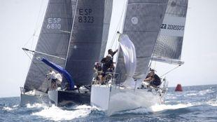 Embarcaciones de la pasada edición del Trofeo SM La Reina, durante un...