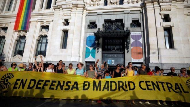 Manifestación en apoyo de Madrid Central celebrada el pasado sábado...