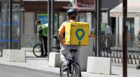 Repartidor de Glovo en Madrid.