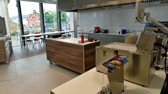 El laboratorio gastronómico LABe ocupa 1.400 metros cuadrados en el...
