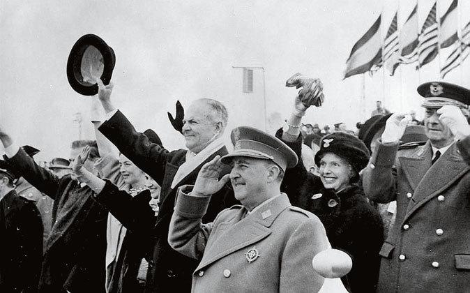 Franco con Eisenhower en la visita del americano a España.