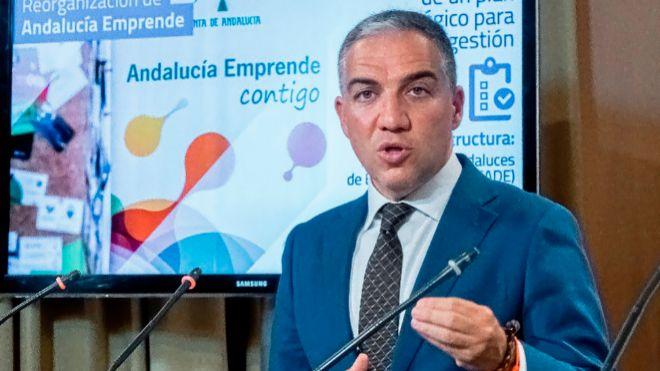 El portavoz de la Junta de Andalucía, Elías Bendodo, en su...
