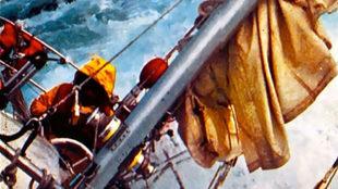 Enrique Gutiérrez-Zulueta, a bordo del Great Britain II, durante la...