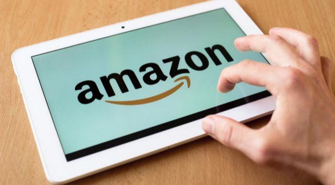 App de Amazon en una tablet.