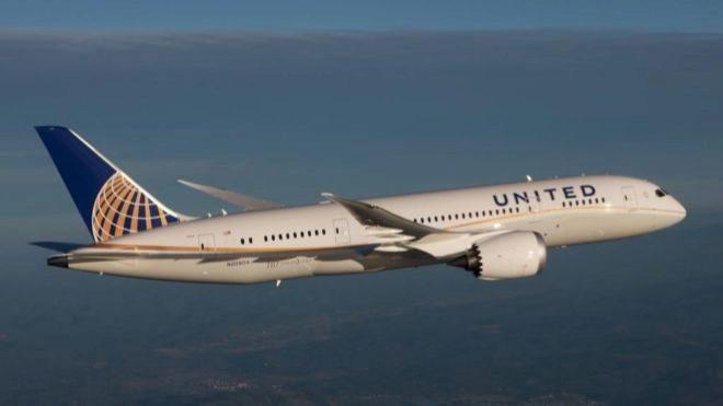 Avión Boeing 787 de la compañía United Airlines.