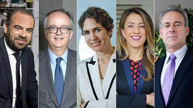 De izquierda a derecha: Gabriel Escarrer, vicepresidente y CEO de...