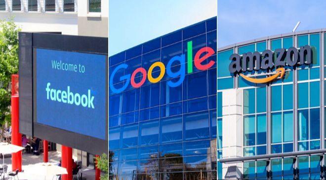 Sedes de Facebook, Google y Amazon.