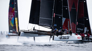 La flota de GC32 en su estreno en la bahía de Palma.
