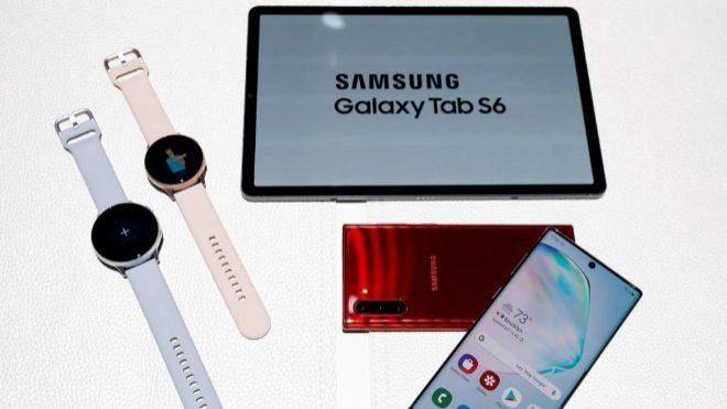 Los nuevos productos de Samsung presentados en un evento celebrado en...