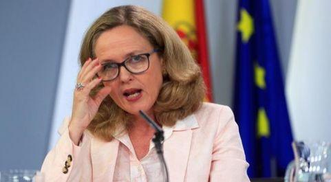 La ministra de Economía en funciones, Nadia...