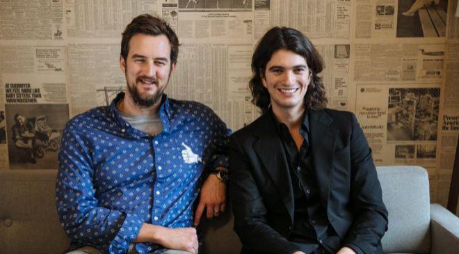 Miguel McKelvey y Adam Neumann, cofundadores de...