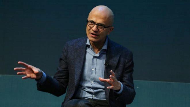 El director ejecutivo de Microsoft, Satia Nadella.