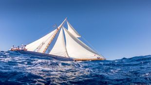 El velero Marigan navegando durante unas de las regatas de este fin de...